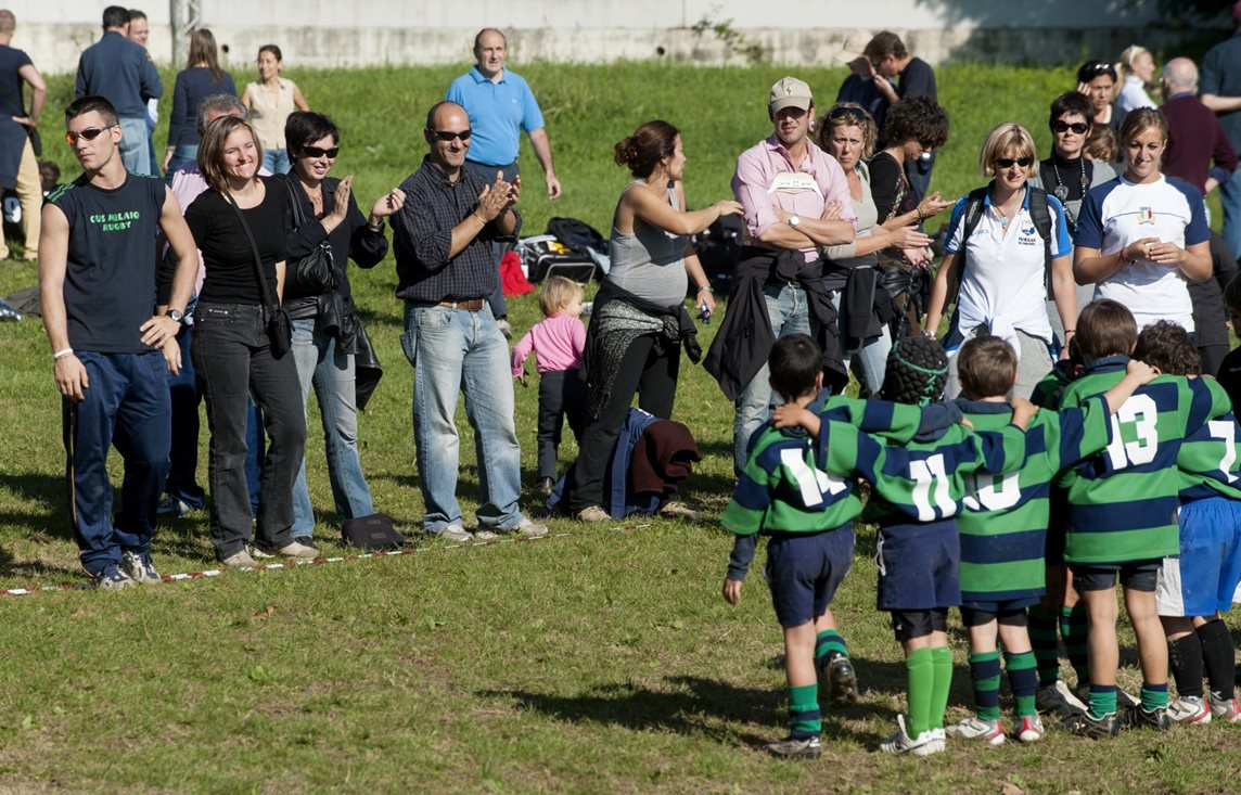 Parents show their emotions watching their children from the sidelines
